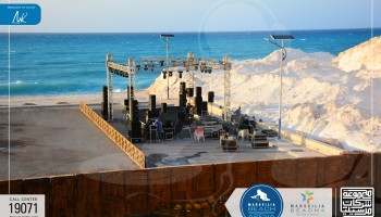 Marseilia held an oriental night at marseilia beach arena, the concert's zone at marseilia beach4